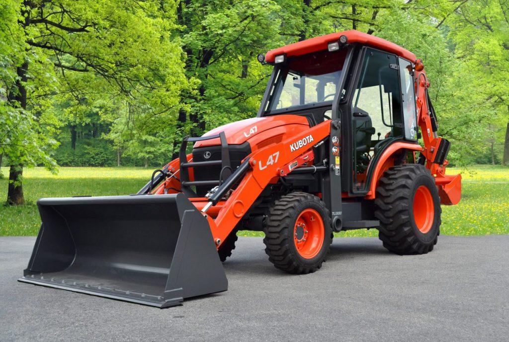 Kubota L47 Tractor Loader Backhoe Premium Cab