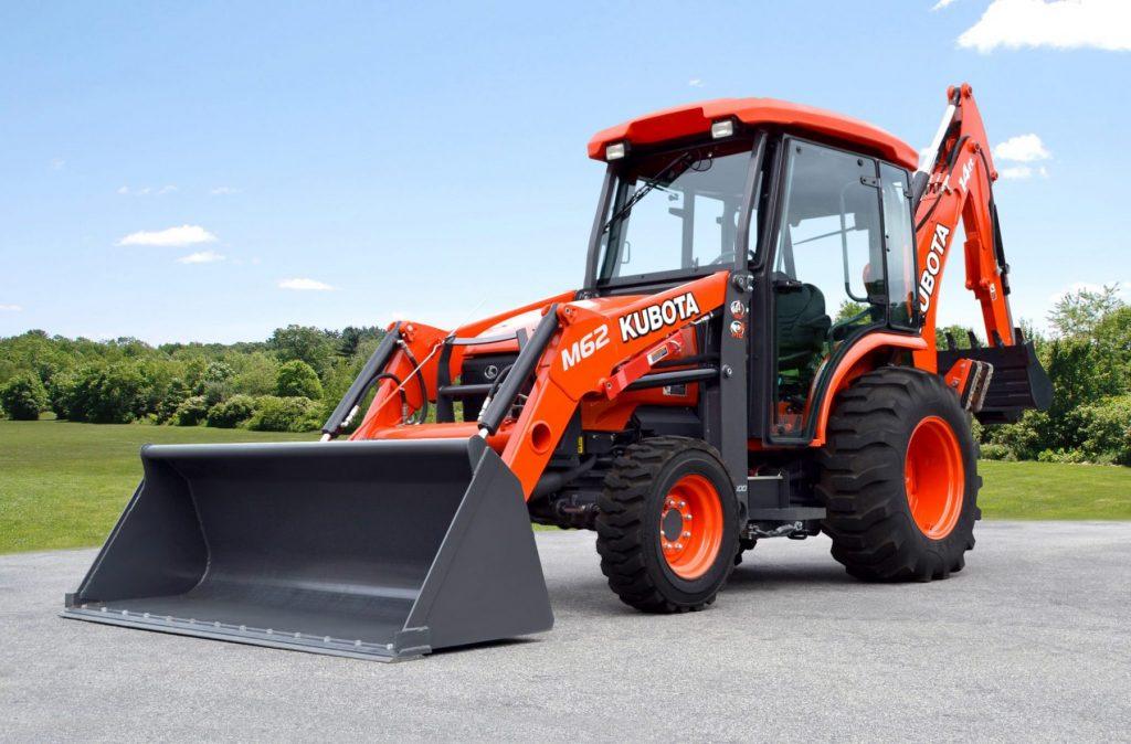 Kubota M62 Tractor/Loader/Backhoe Premium Cab