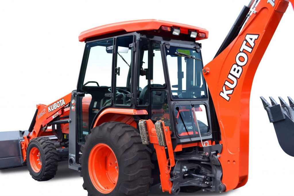 Kubota M62 Tractor Loader Backhoe Premium Cab