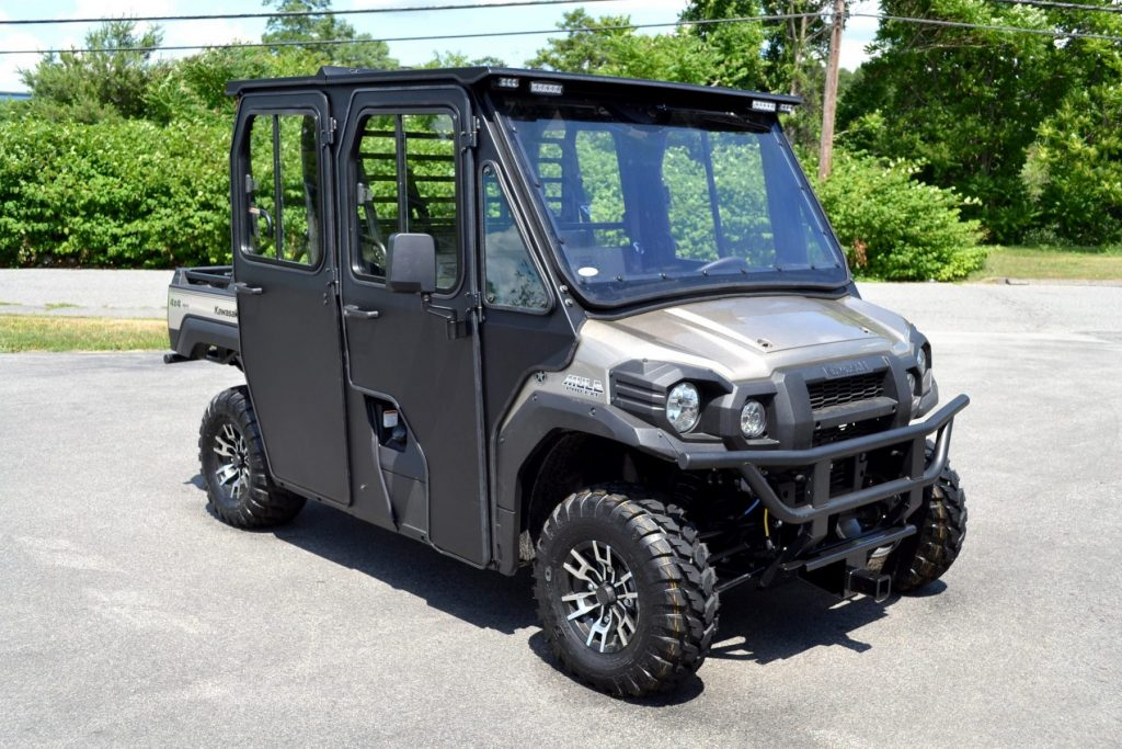 kawasaki mule pro fxt dxt cab with polycarbonate windshield. Black Bedroom Furniture Sets. Home Design Ideas
